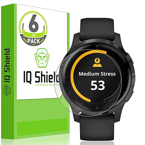 IQ Shield Screen Protector Compatible with Garmin Vivoactive 4 (45mm)(6-Pack) LiquidSkin Anti-Bubble Clear Film
