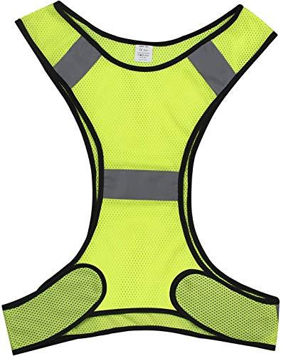 CHILEAF Laufweste, Fahrrad Reflektierende Weste für Joggen, Fahrrad, Warnweste Damen Herren Reflektor Notfall ausrüstung