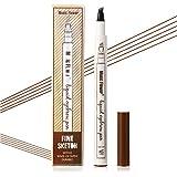 Vtrem Crayon À Sourcils 3D Tatouage Crayon Microblading Longue Durée Imperméable Crayon D'Encre Croquis De Stylo De Sourcil Maquillage Naturel - Brun