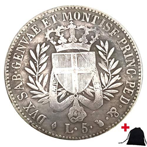 DDTing 1821 historische handgeschnitzte italienische Münzen - Great Europe Münzen aus Italien - Unzirkulierte alte Gedenkmünze + KaiKBax Tasche - It's Handmade Coin goodService