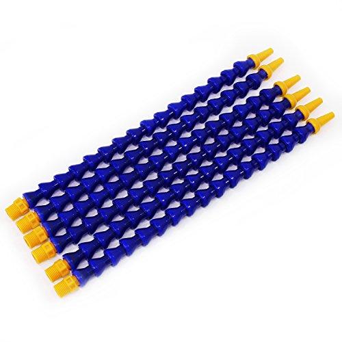 HSEAMALL Plastic Flexible Wasser Öl Kühlmittel Rohr Schlauch 6Pcs blau 30mm