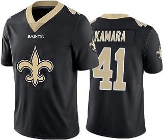 Alvin Kamara 41# American Football Trikot, New Orleans Saints # 41 Rugby Trikot, Stickerei T-Shirt Trainings Trikot Sport Top Schnelltrocknendes Hemd