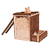 For appropriate playing Acrylic glass pane for observing the animals Rim prevents the sawdust being thrown out Two side entrances Size: 25 cm × 24 cm × 20 cm