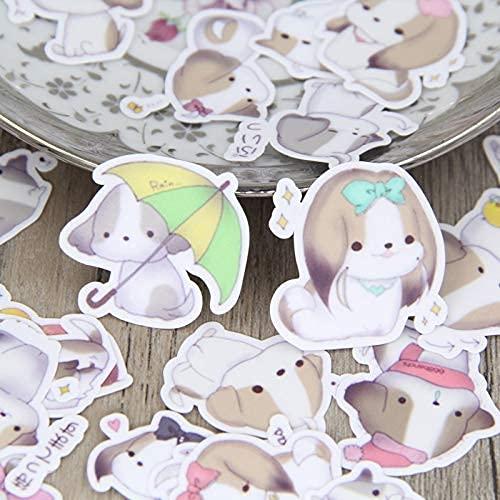 XXCKA Lindo Cachorro Emoji Paquete de Pegatinas caseras Perro Animal Mano Cuenta Diario Pegatina Decorativa