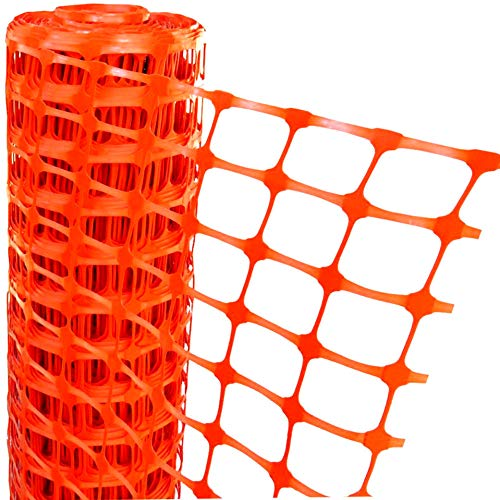 Electriduct Plastic Construction Fencing: 250 Feet Orange Safety Barrier Fence Roll