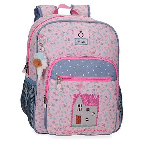 Enso My Sweet Home Mochila Escolar Adaptable Multicolor 30x38x12 cms Poliéster 13,68 L