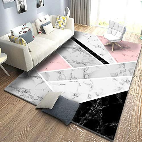 Alfombra moderna de franela suave para la cabecera del hogar, decoración geométrica triangular, sofá sala de estar
