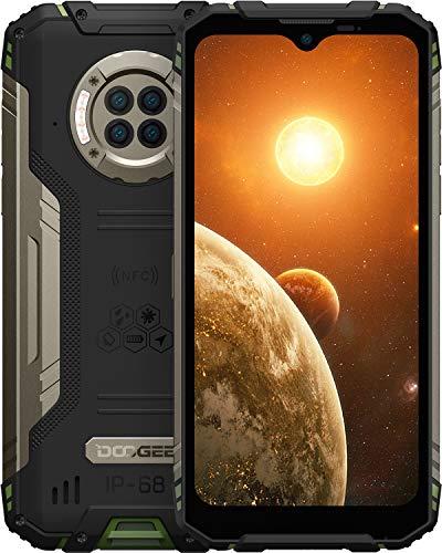 DOOGEE S96 Pro (Offiziell) Outdoor Handy 20MP AI Nachtsicht Outdoor Smartphone Ohne Vertrag Helio G90 87,7MP UHD-Foto 8GB+128GB 6350mAh Gyroskop NFC IP68/IP69K 2021 Handy (Grün)