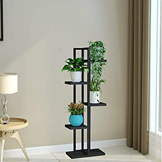 QTDS Soporte de exhibición de Bonsai Vertical Vertical de Planta de Hierro de 5 Capas de Soporte de Flor Planta de Hierro de 5 Capas (Color : Negro)