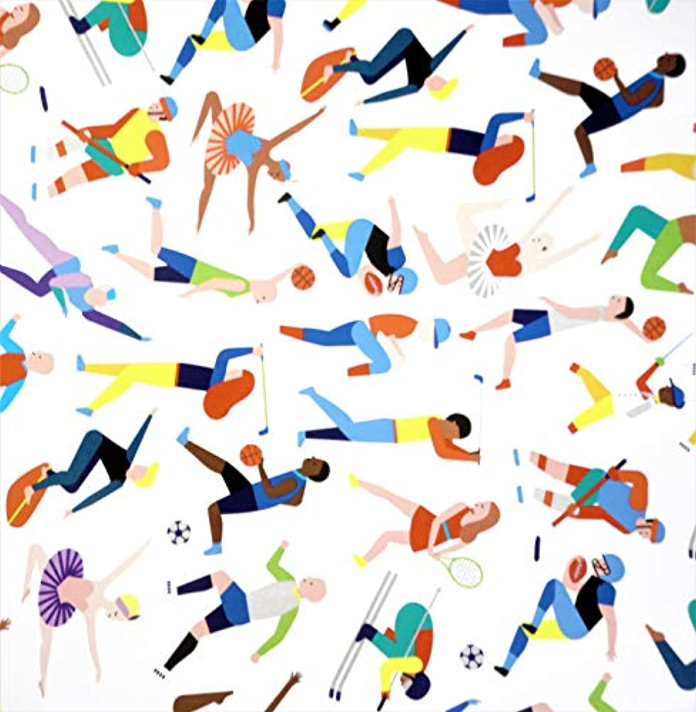 Sports Athletes Gift Wrapping Paper Flat Sheet - 24