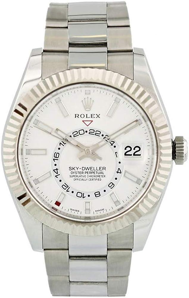 Rolex sky-dweller orologio automatico da uomo oyster 326934WSO