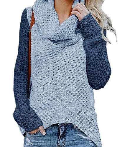Babao Mujeres Suelto Suéter Suéter Suéter Tipo con Cuello De Tortuga Jersey De Punto