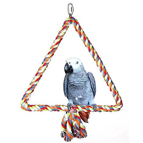 quanjucheer Vogel Papagei Schaukeln, PET Vogel-Dreieck, Baumwolle, Seil zum Aufhängen Hängematte-, Käfig-Spielzeug