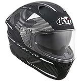 KYT casco Moto Integral nf-r, Logos Matt Grey, talla XL 61–62cm