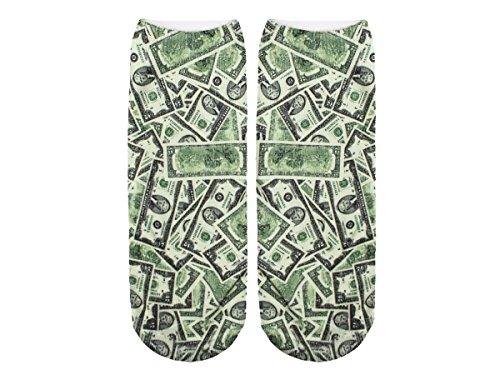 Unbekannt Socken bunt mit lustigen Motiven Print Socken Motivsocken Damen Herren ALSINO, Variante wählen:SO-L004 Geldscheine
