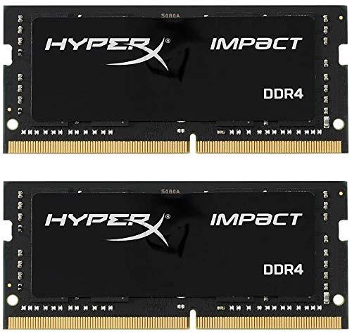 HyperX Impact HX316LS9IBK2/16 Arbeitsspeicher 1600 MHz DDR3L CL9 SODIMM 1.35 V, 16GB Kit (2x8GB)