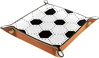 White and Black Football Dice Tray Portable Folding Dice Rolling Tray for Use As A Game Dice Folding Dice Tray Box Games Dice Storage Case