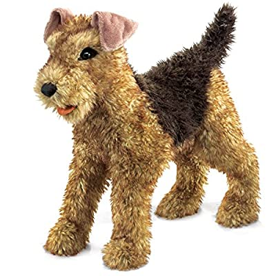 Folkmanis Airedale Terrier Hand Puppet from Folkmanis Puppets