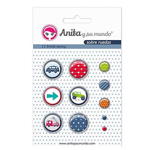 Pack 6 brads Anita y Su Mundo 37010111 dise/ño Epoxy mi princesa