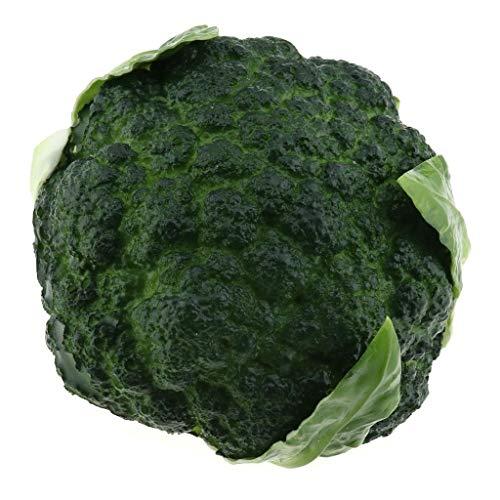 Gresorth PU Fälschung Brokkoli Dekoration Künstlich Gemüse Zuhause Küche abspielen Essen Spielzeug - Grün