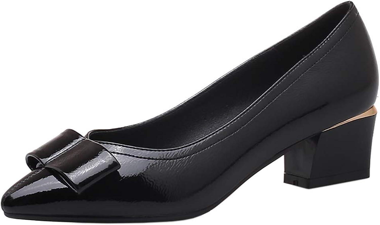 CularAcci Women Casual Low Heel Pumps shoes