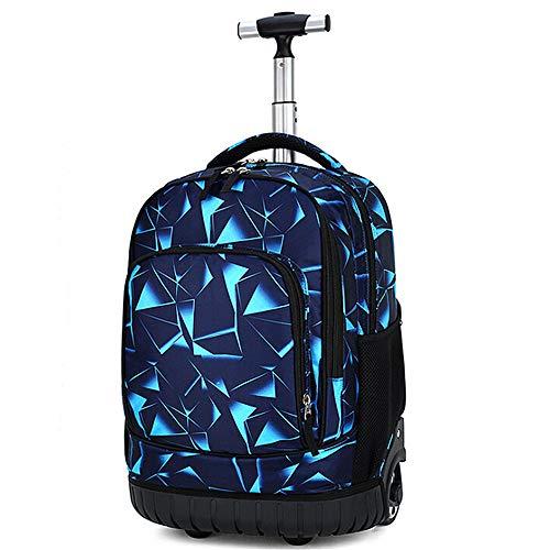 Cozyhoma Rolling Rucksack Multifunktions Rolling Schule Buch Pack Reise Trolley Gepäck Tasche für Schule Studenten Bücher und Erwachsene Reisen Technology 19-inch