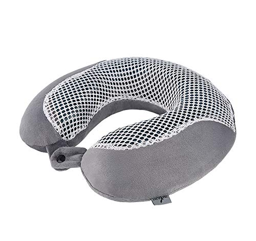 INSN Memory Foam Travel Pillow,Bamboo Charcoal and Gel Material Pillow,Ultra Soft Full Neck Chin Support,Best for Travel, Home, Office