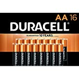 Duracell - CopperTop AA Alkaline Batteries - long lasting, all-purpose Double A battery for household and business - 16 Count