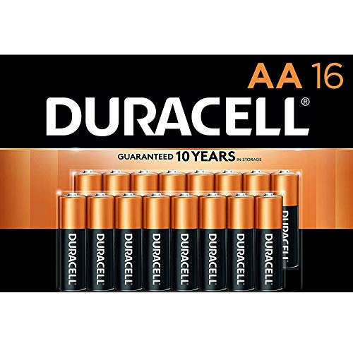 Duracell  CopperTop AA Alkaline Batteries  Long Lasting AllPurpose Double A battery for Household and Business  16 Count