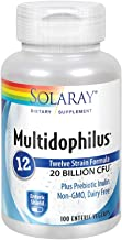 Solaray Multidophilus 12 Strain Probiotic   20 Billion CFU   Healthy Gut Support   50 Servings   100 Enteric VegCaps
