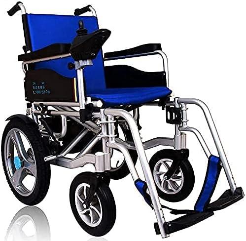 BSJZ Silla de Ruedas eléctrica portátil con batería de Iones de Litio, Doble Motor, Silla de Ruedas eléctrica Plegable para discapacitados, Silla de Ruedas para Ancianos