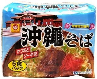 Maru-chan Okinawa soba bonito and Soki taste 5 meals pack