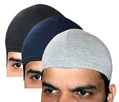 Elk Men's & Women's Cotton Helmet Cap (Pack Of 3_Multicolor)