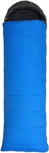 Yy.f Confortable Léger portable Facile à Comprimer Enveloppe Sac De Couchage Avec Sac De Compression. Camping En Plein Air La Randonnée Le Camping Sac De Couchage Multi-fonction (rouge Et Bleu)