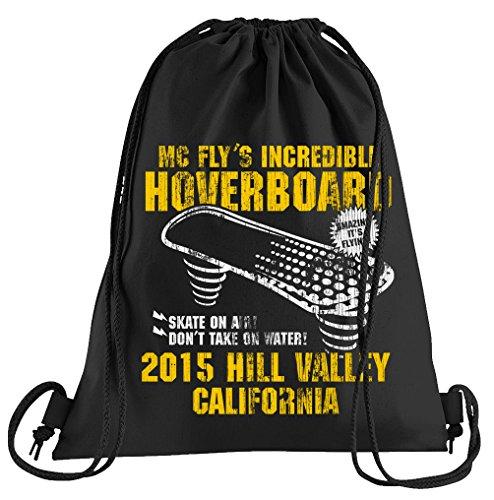 T-Shirt People Hoverboard California Sportbeutel – bedruckter Beutel – eine schöne Sport-Tasche Beutel mit Kordeln Zukunft Flux Delorean DMC