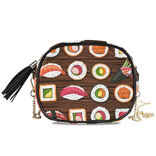XiangHeFu Cartoon Seafood Sushi Large Capacity Coin Case Card Holder Wallet Purse Phone Bag Travel