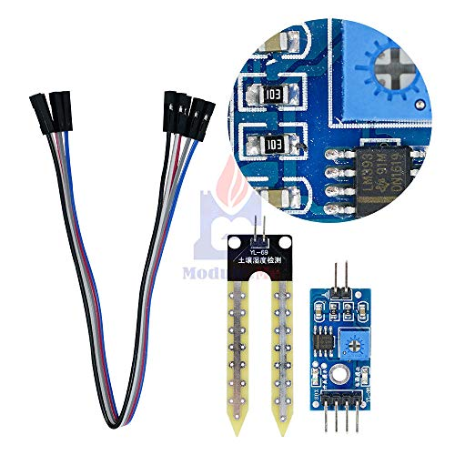 Best Deals! 2set Soil Moisture Hygrometer Detection Humidity Sensor Module for Arduino Development B...