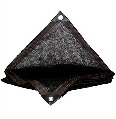 Pare-soleil net noir écran solaire net 8-pin cryptage balcon cour toit d'isolation charnue net voile de voile parasol (Couleur : A, taille : 3 * 8m)
