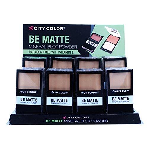 CITY COLOR Be Matte Mineral Translucent Blot Powder Display Case Set 24 Pieces