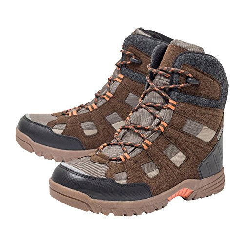 Walkx Herren Thermostiefel Boots Schuhe Thermo-Stiefel (Braun-Orange, 41)