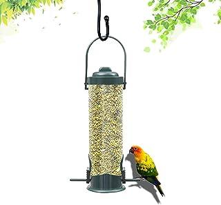 Distributeur de Cereales,Mangeoire pour Les Oiseaux,Mangeoire à Graines en Plastique, Mangeoire à Oiseaux Suspendue en PV...