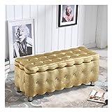 RKRCXH Sitzwürfel Truhe Fußbank Sitzbank, Polsterhocker Faltbar, Truhe Bank, Sitztruhe Sitzkasten Farbwahl (Color : Gold, Size : 80x40x40cm)