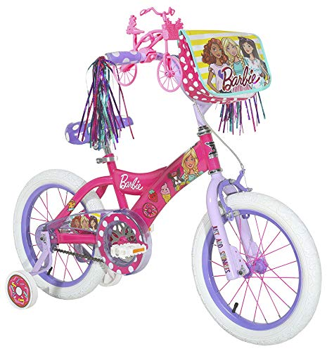 """12"""" Barbie Bike with Training Wheels and Streamers"""