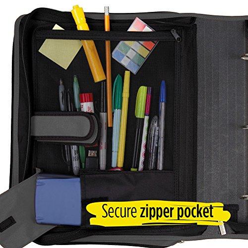 Five Star Zipper Binder, 2 Inch 3 Ring Binder, 6-Pocket Expanding File, Durable, Black (72536) Photo #5