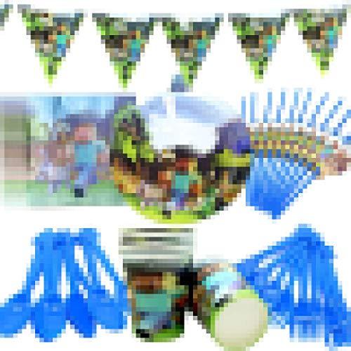 Conjunto de Suministros de Fiesta CHEPL 70 piezas Platos Desechables y Vasos...