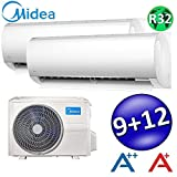 NEUE DUO MULTI SPLIT 9000+12000 25+30m KLIMAANLAGE MIDEA RIGHT KLIMAGERÄT A++