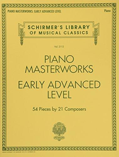 Schirmer's Library Of Musical Classics Volume 2112: Piano Masterworks - Early Advanced Level: Noten, Sammelband für Klavier