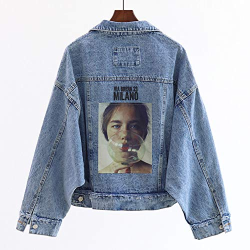NSWTKL Jeansjas voorjaarsprint denim jack losse lange mouwen Basic Coat Harajuku Plus maat jean jassen boyfriend stijl vintage outwear