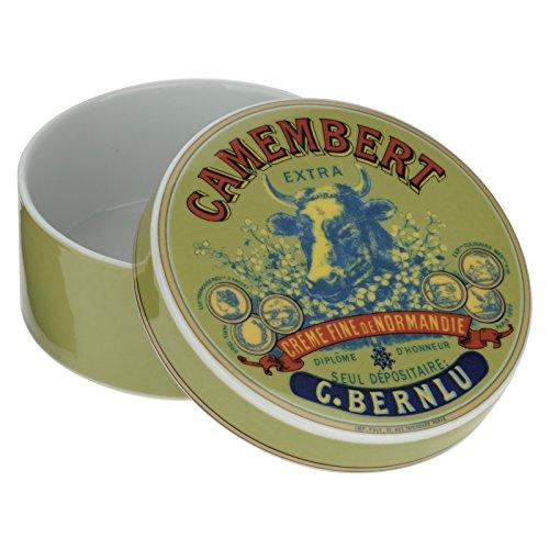 BIA Cow's Head Camembert Baker en Cover, Groen/Blauw en Rood