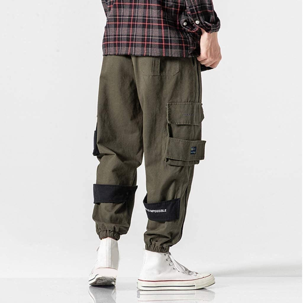 Pantalons Détachables Et Deux Pièces Vintage Airborne Pantalon Herren Mode Chic Cargo Hose Jumpsuit Pantalon Mode Armee-grün(3)